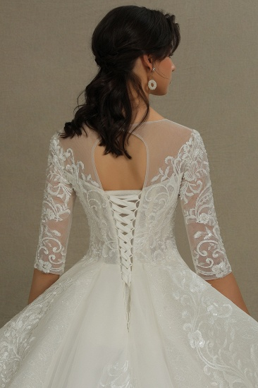 BMbridal Long Sleeves Lace Wedding Dress Luxury Online_7