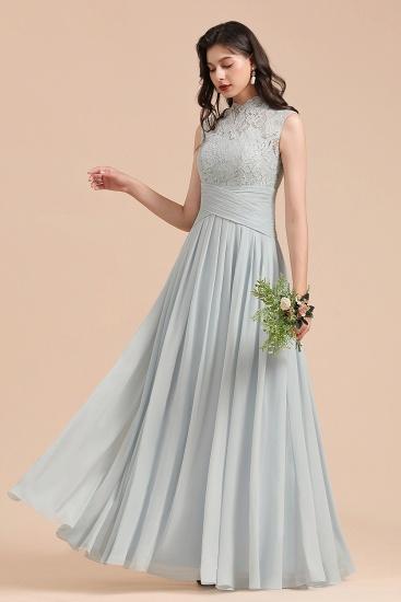 BMbridal Mist High-Neck Lace Bridesmaid Dress Long Online_6