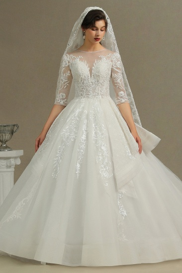 BMbridal Long Sleeves Lace Wedding Dress Luxury Online_3