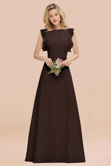 BMbridal Simple Jewel Draped Sleeves Blushing Pink Bridesmaid Dress Online_11