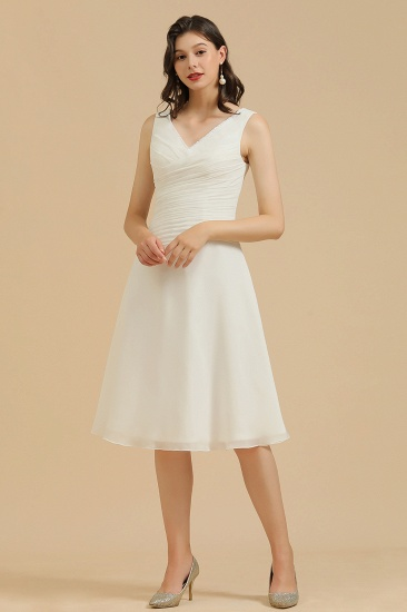 BMbridal V-Neck Knee-length Chiffon Bridesmaid Dress online_1
