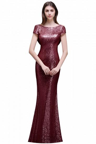 BMbridal Women Sparkly Rose Gold Long Sequins Bridesmaid Dress_1