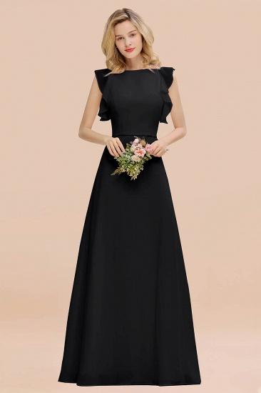 BMbridal Simple Jewel Draped Sleeves Blushing Pink Bridesmaid Dress Online_29