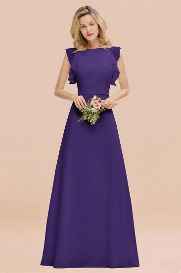 BMbridal Simple Jewel Draped Sleeves Blushing Pink Bridesmaid Dress Online_19