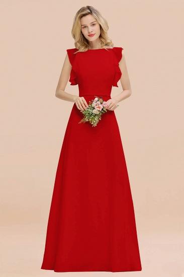 BMbridal Simple Jewel Draped Sleeves Blushing Pink Bridesmaid Dress Online_8