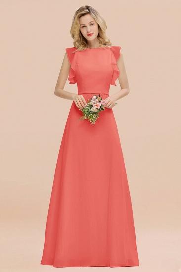 BMbridal Simple Jewel Draped Sleeves Blushing Pink Bridesmaid Dress Online_7