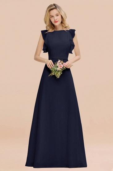 BMbridal Simple Jewel Draped Sleeves Blushing Pink Bridesmaid Dress Online_28