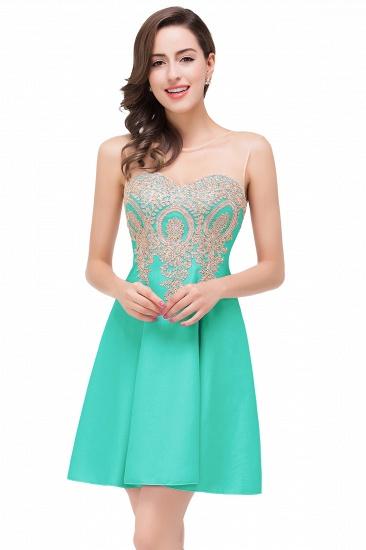 BMbridal Short Applique Sleeveless Prom Homecoming Dress_4
