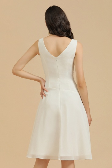 BMbridal V-Neck Knee-length Chiffon Bridesmaid Dress online_9