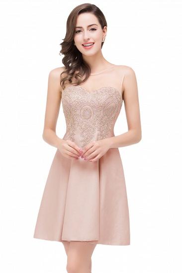 BMbridal Short Applique Sleeveless Prom Homecoming Dress_1