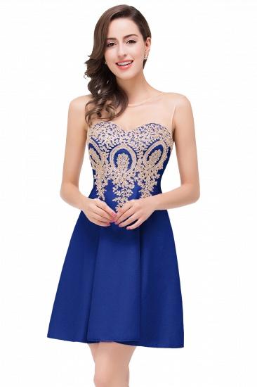 BMbridal Short Applique Sleeveless Prom Homecoming Dress_2