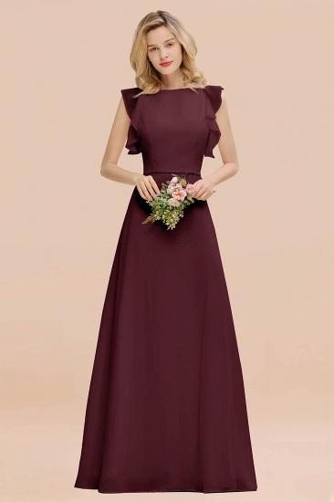 BMbridal Simple Jewel Draped Sleeves Blushing Pink Bridesmaid Dress Online_47