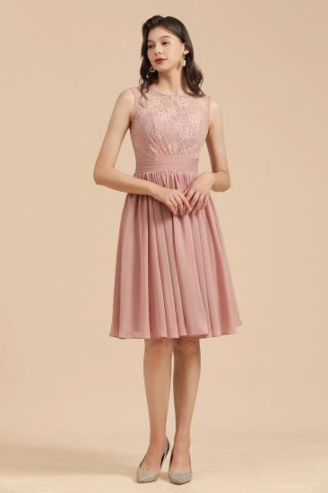 BMbridal Short Lace Dusty Rose Junior Bridesmaid Dress_6