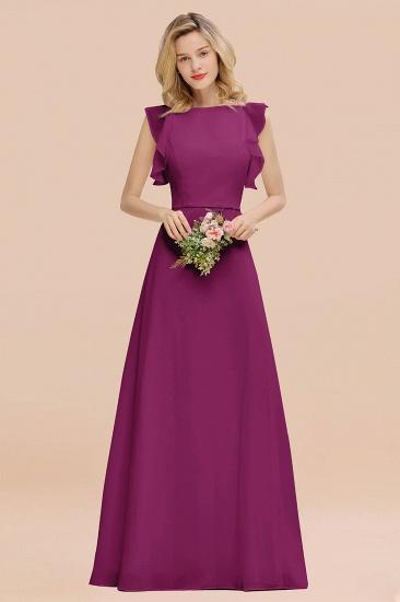 BMbridal Simple Jewel Draped Sleeves Blushing Pink Bridesmaid Dress Online_42