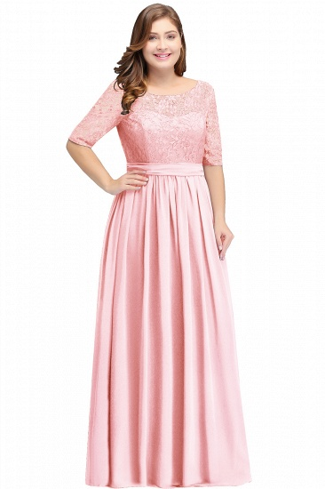BMbridal Half-Sleeve Lace Long Chiffon Evening Dress_2