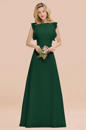 BMbridal Simple Jewel Draped Sleeves Blushing Pink Bridesmaid Dress Online_31
