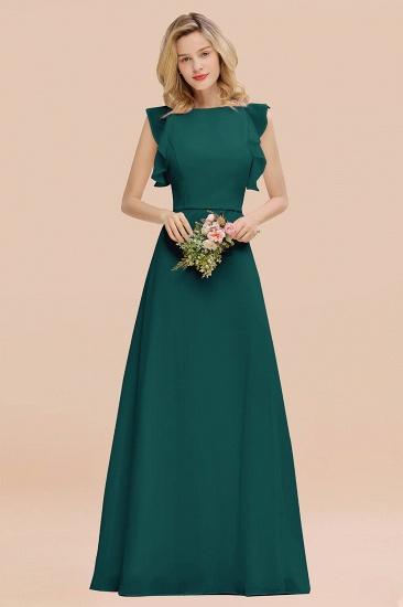BMbridal Simple Jewel Draped Sleeves Blushing Pink Bridesmaid Dress Online_33