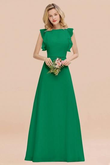 BMbridal Simple Jewel Draped Sleeves Blushing Pink Bridesmaid Dress Online_49