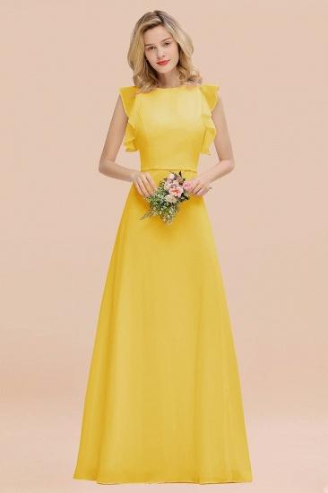 BMbridal Simple Jewel Draped Sleeves Blushing Pink Bridesmaid Dress Online_17