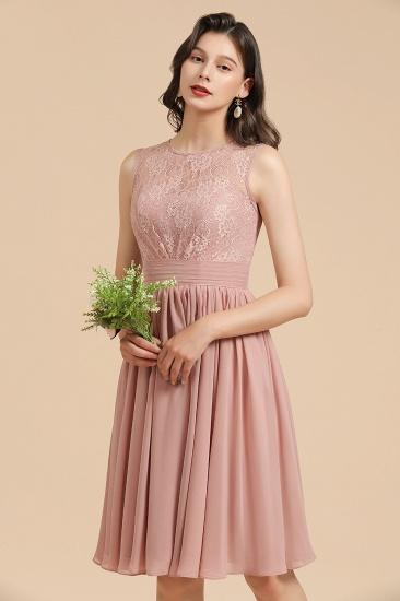 BMbridal Short Lace Dusty Rose Junior Bridesmaid Dress_9