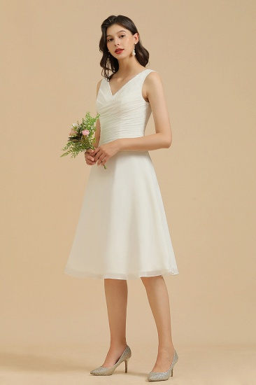 BMbridal V-Neck Knee-length Chiffon Bridesmaid Dress online_8