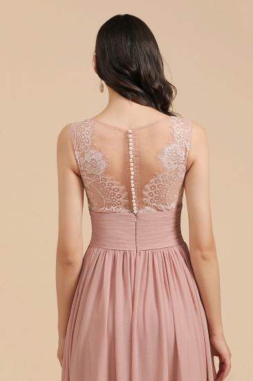 BMbridal Dusty Rose Chiffon V-Neck Bridesmaid Dress Long_10