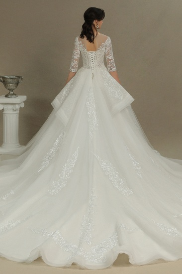 BMbridal Long Sleeves Lace Wedding Dress Luxury Online_2