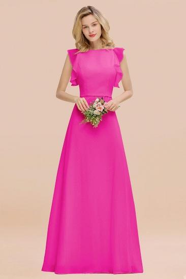 BMbridal Simple Jewel Draped Sleeves Blushing Pink Bridesmaid Dress Online_9