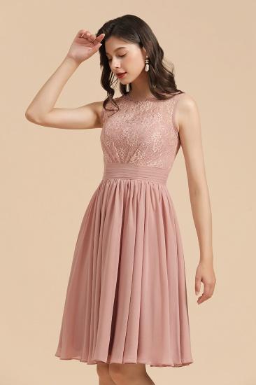 BMbridal Short Lace Dusty Rose Junior Bridesmaid Dress_7
