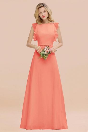 BMbridal Simple Jewel Draped Sleeves Blushing Pink Bridesmaid Dress Online_45