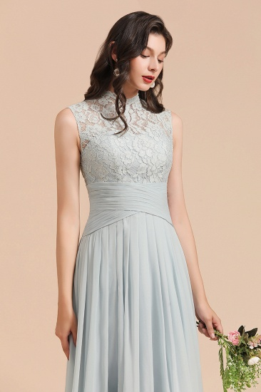 BMbridal Mist High-Neck Lace Bridesmaid Dress Long Online_8