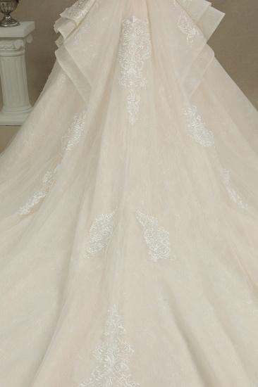 BMbridal Glamorous Short Sleeve Lace Ball Gown Wedding Dress_8