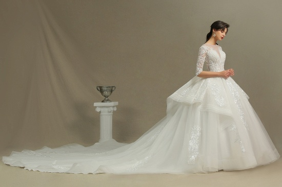 BMbridal Long Sleeves Lace Wedding Dress Luxury Online_4
