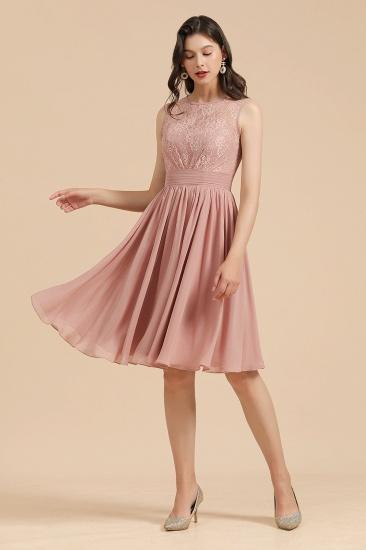 BMbridal Short Lace Dusty Rose Junior Bridesmaid Dress_4