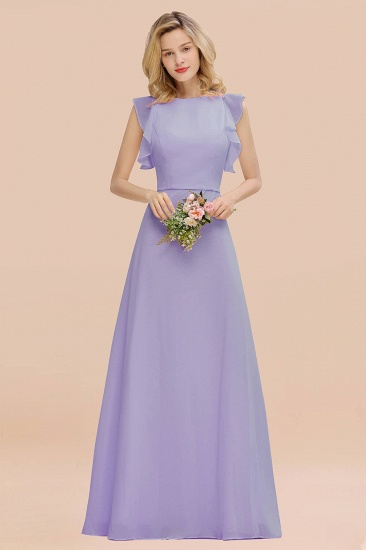 BMbridal Simple Jewel Draped Sleeves Blushing Pink Bridesmaid Dress Online_21