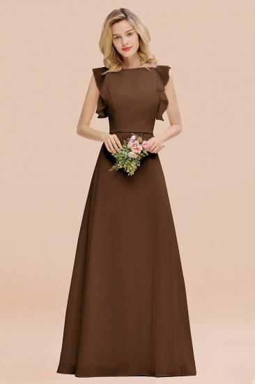 BMbridal Simple Jewel Draped Sleeves Blushing Pink Bridesmaid Dress Online_12