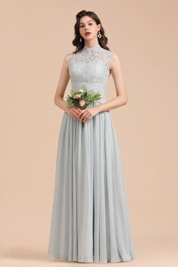 BMbridal Mist High-Neck Lace Bridesmaid Dress Long Online_1