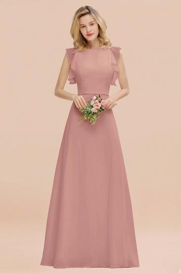 BMbridal Simple Jewel Draped Sleeves Blushing Pink Bridesmaid Dress Online_50