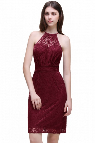 BMbridal Elegant Halter Lace Sheath Short Prom Dress_1