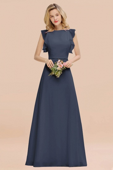 BMbridal Simple Jewel Draped Sleeves Blushing Pink Bridesmaid Dress Online_39