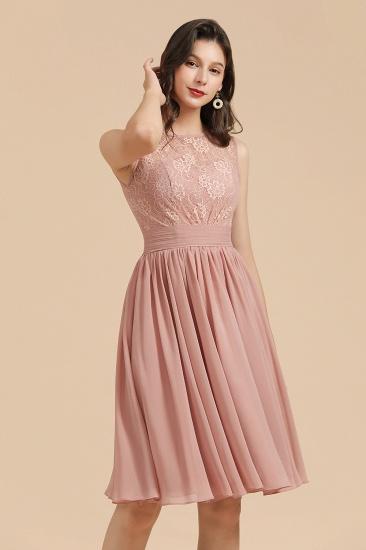 BMbridal Short Lace Dusty Rose Junior Bridesmaid Dress_8
