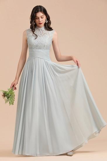 BMbridal Mist High-Neck Lace Bridesmaid Dress Long Online_4