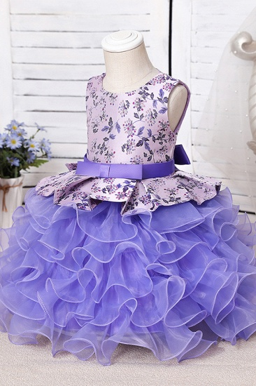 BMbridal Tulle Purple Lovely Flower Girl Dress_7