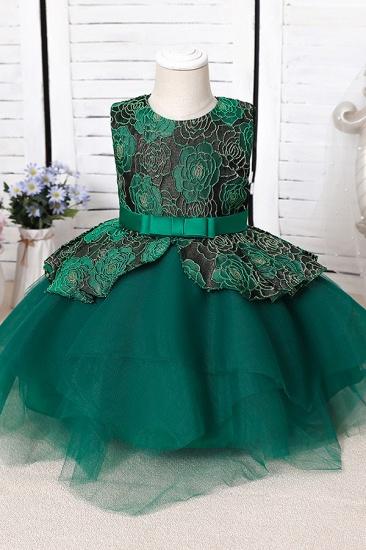 BMbridal Blue Mix Black Lace Flower Girl Dress_3