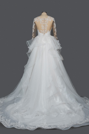 BMbridal Classic Long Sleeve Lace Bridal Gown Online_2