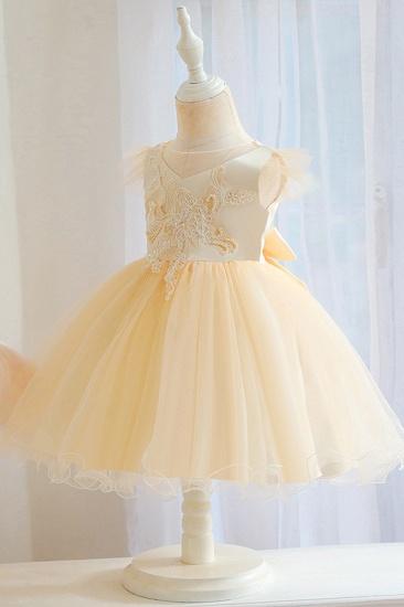 BMbridal Lovely Pink Tulle Flower Girl Dress_4