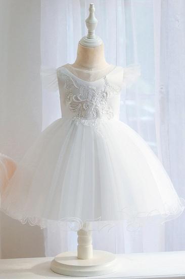 BMbridal Lovely Pink Tulle Flower Girl Dress_1
