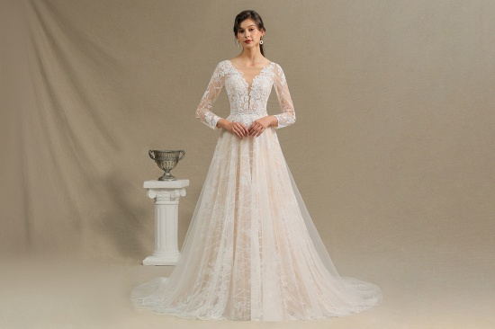 BMbridal Long Sleeves Lace Wedding Dress Online_4