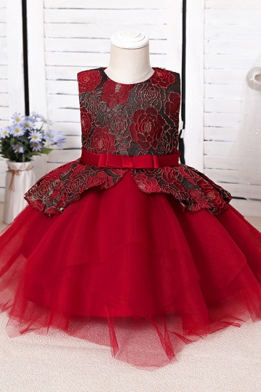 BMbridal Blue Mix Black Lace Flower Girl Dress_2