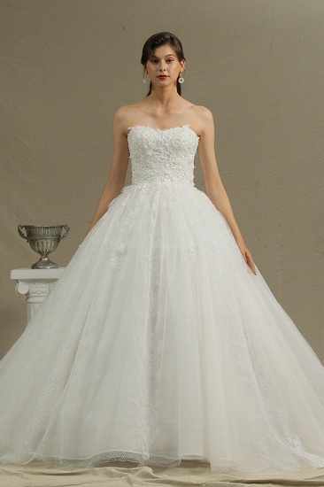 BMbridal Ball Gown Sweetheart Lace Wedding Dress_2